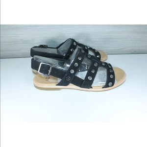 Ugg Zariah Studded Bling Black Gladiator Sandals